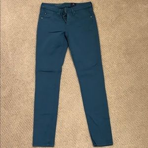 AG stretch sateen super skinny ankle jeans